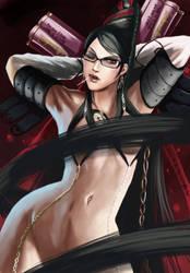 Bayonetta: U want to Touch Me? by mazjojo