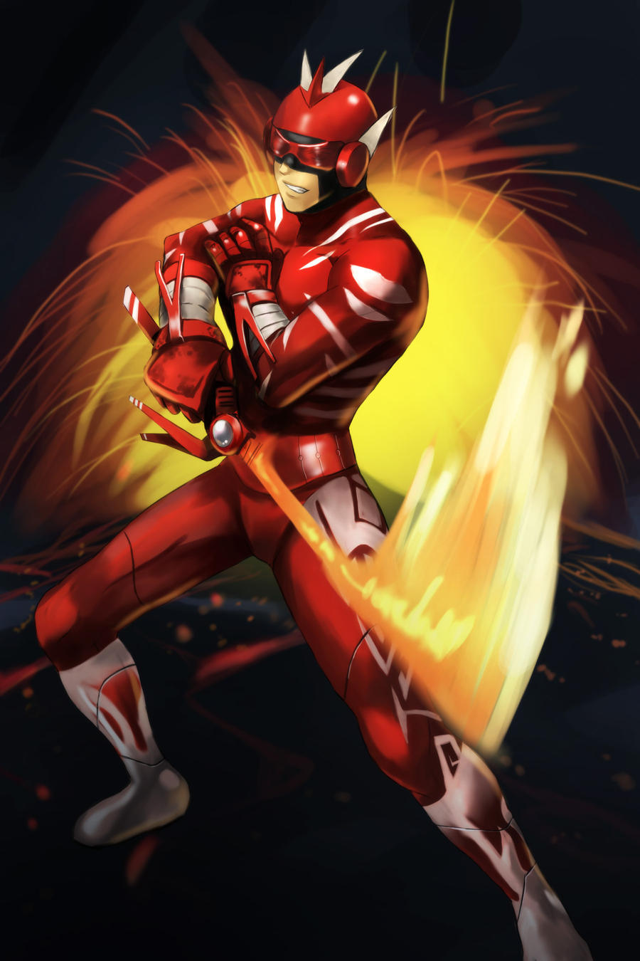 Commission: Red Hero by mazjojo on DeviantArt