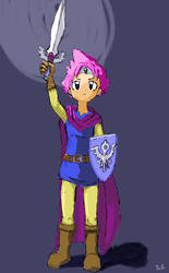 Kumatora dressed as Erdrick