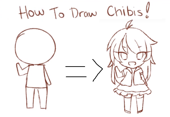 How to draw chibis tutorial video by threewiishes