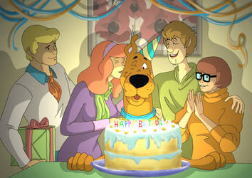 Happy Birthday Scooby! by MisplacedExplorer