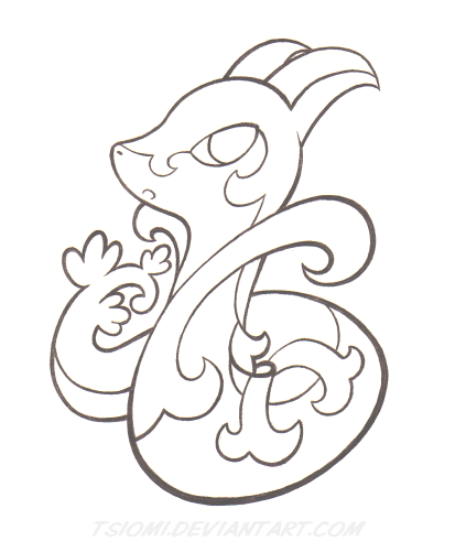 pokemon coloring pages servine pictures - photo#9