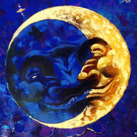 The moon by coffeecookiecat