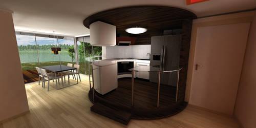 glasklart kitchen by coffeecookiecat