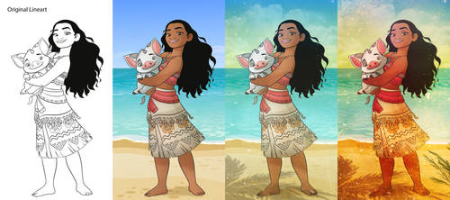 MOANA - Coloring and Retouching by TioKervin