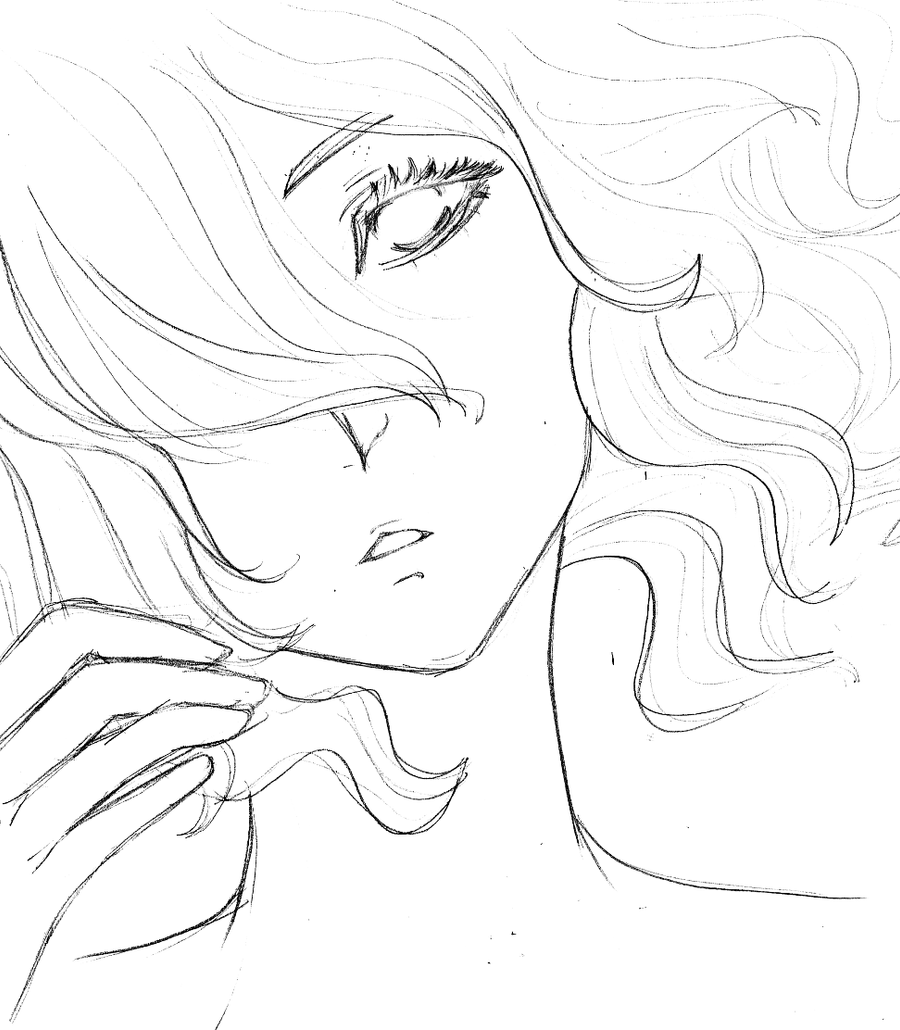 curly hair lineart by meimdesu on deviantart
