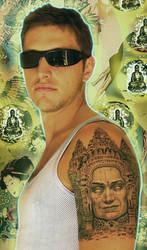 angkor wat tempel faces tattoo