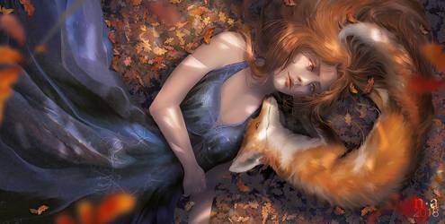 Fuchsrot - Book Cover Artwork by mohn-blume