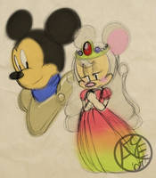 Sir Mickey and Princess Minnie by angelsunbomb