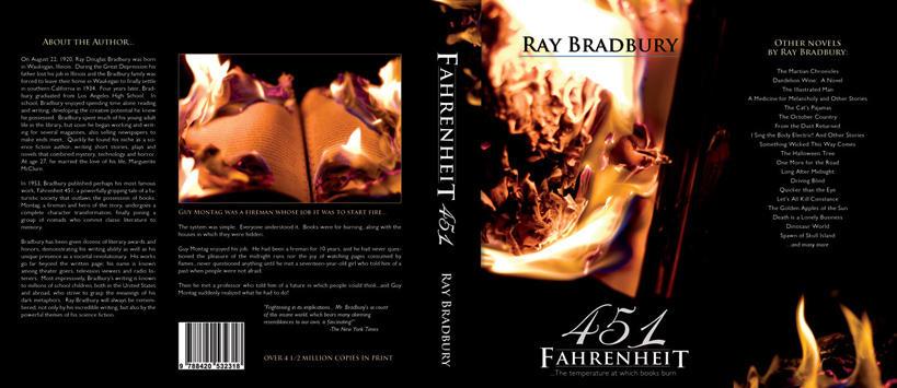 Fahrenheit 451 Book Cover by TriggerArtist
