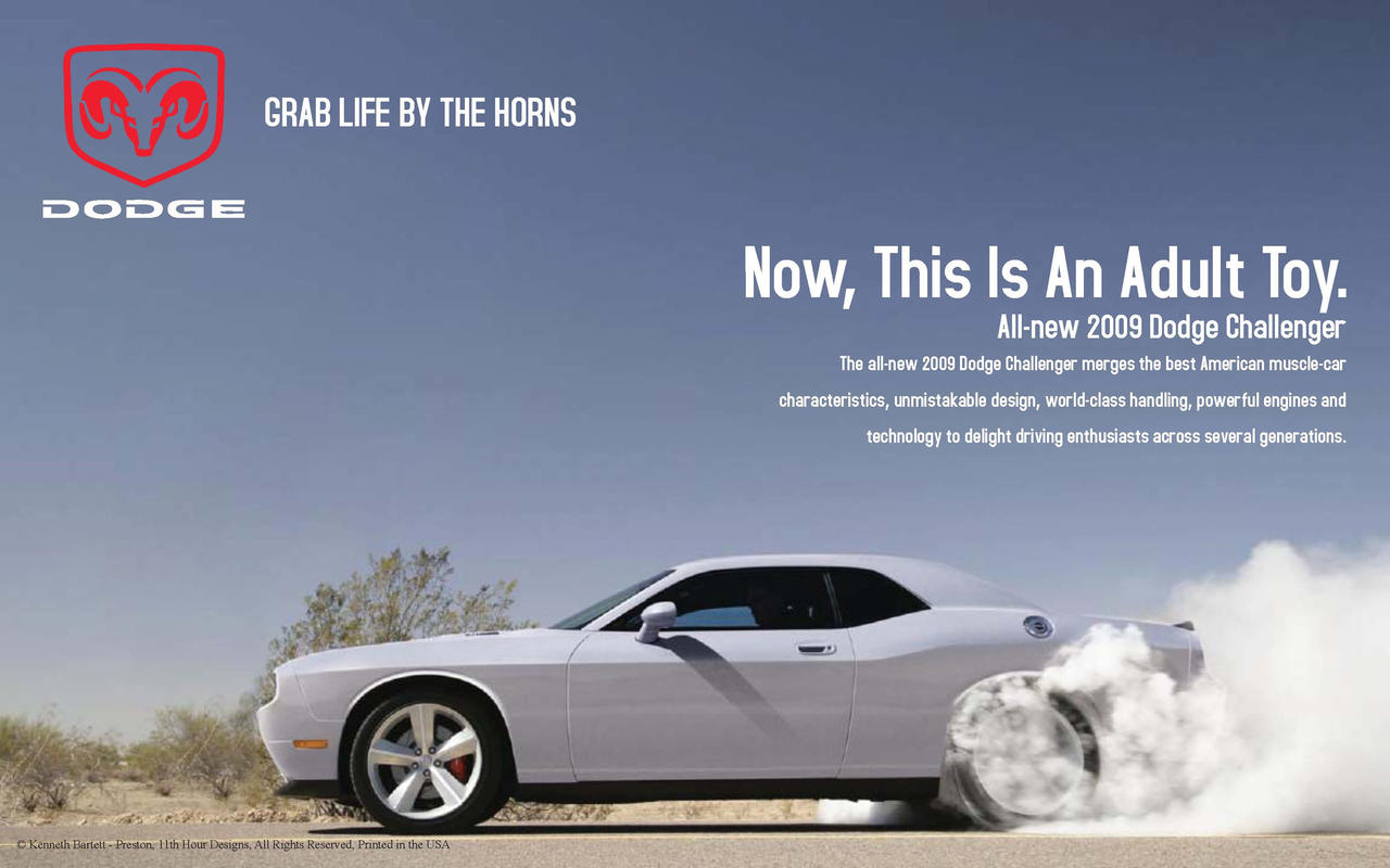 FINAL 09 Dodge Challenger Ad by yung106 on DeviantArt