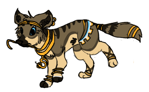 Egyptian Wolf Adoptable - OPEN by Rice-Taiga