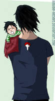Sasuke- Father and son by Nanami-Michiko