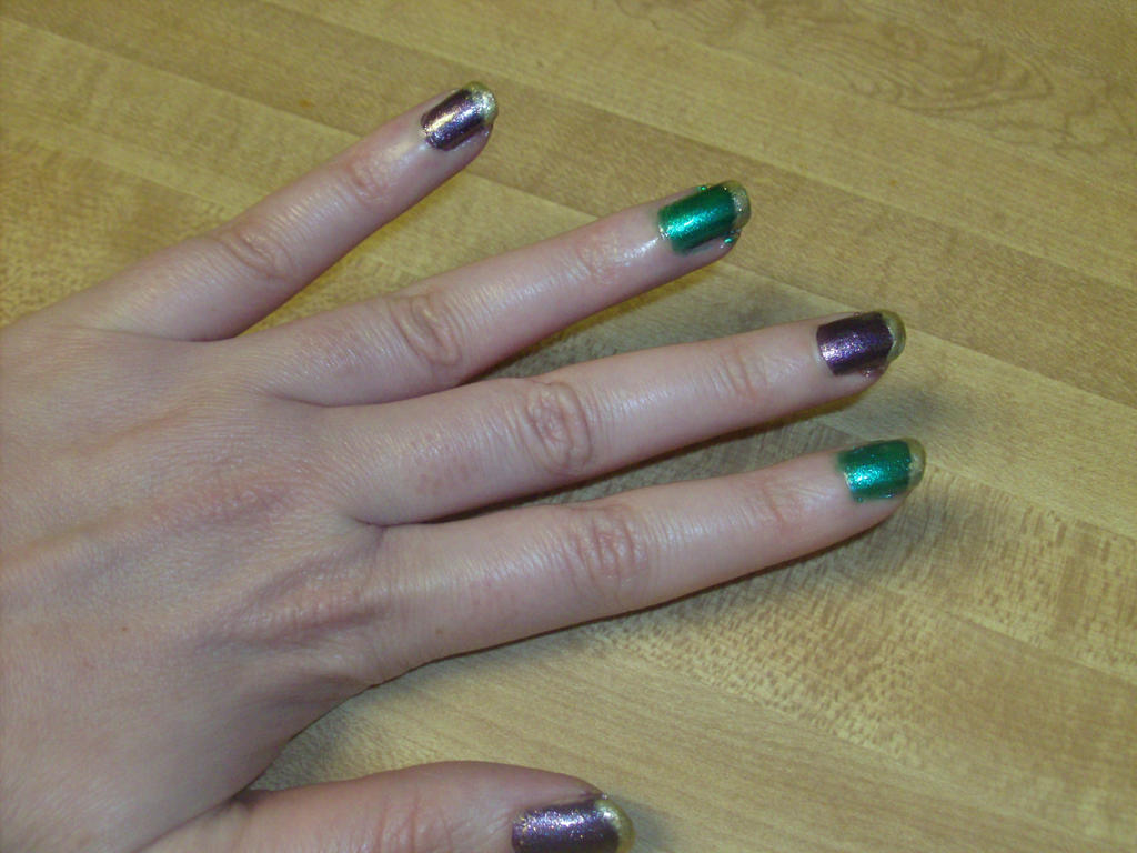 Mardi Gras Nails 002 by ladytremere85 on DeviantArt