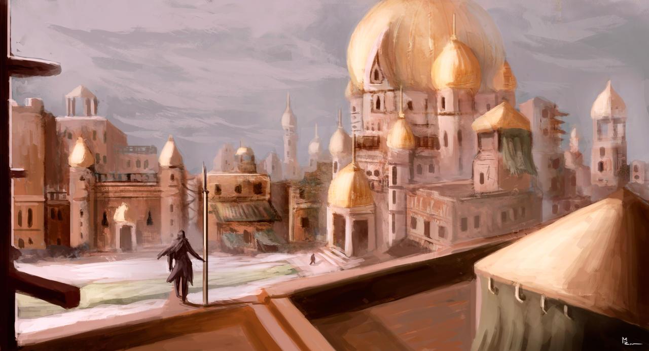 Concept art arabic architecture pratice 03 by for Architecture arabe