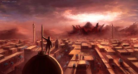 Volcano city - Arabic architecture practice by Manuel2k10