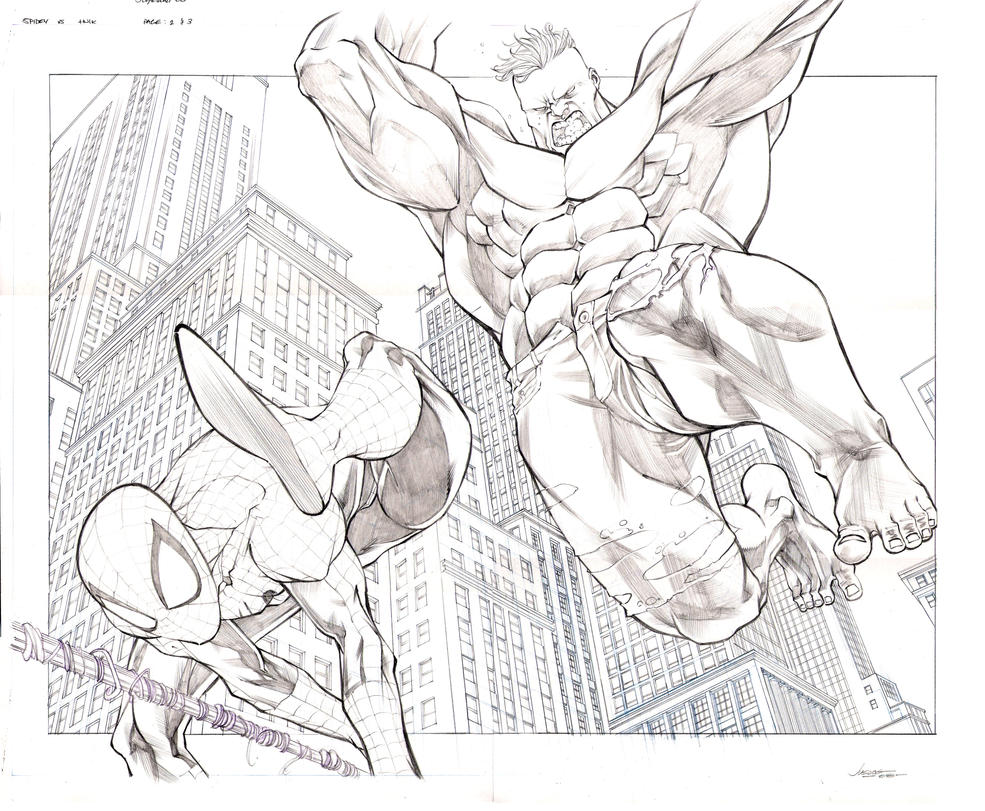 Spidey vs Hulk 2 and 3 by jusdog