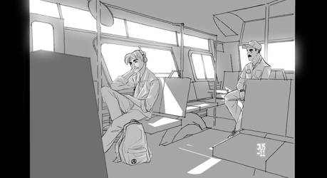Parker rides the bus by jusdog