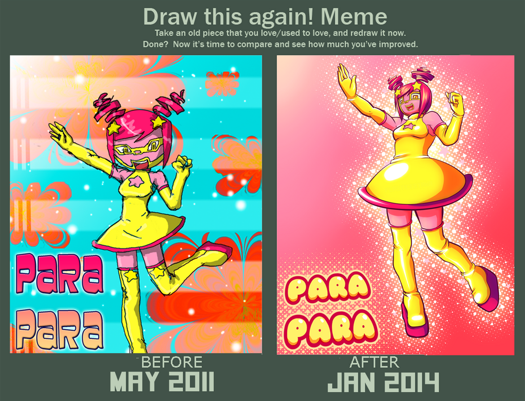 Draw this again! ParaPara by PlasticKatana