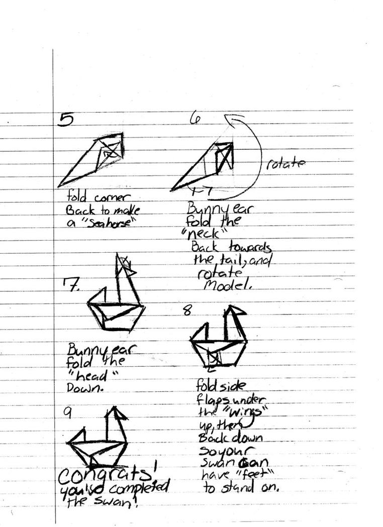 origami swan diagram part two by inuyashaslover4 on deviantart