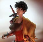 cloaked swordmaiden