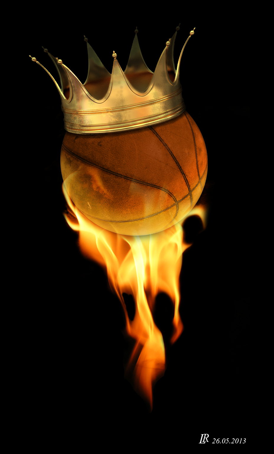 Basketball On Fire by LuckyLuc24 on DeviantArt