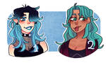 Turquoise girls (? [Adoptables 1/2]