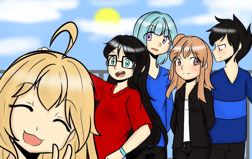 Haruka and friends by HanaSakune