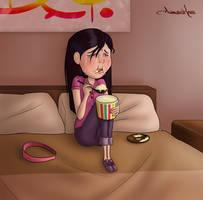 Sad Violet by Anawinkaro