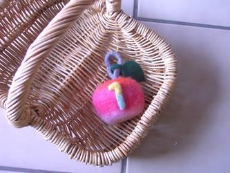A felted Apple by liyehuku