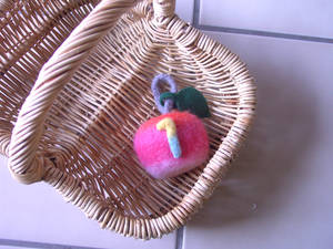 A felted Apple
