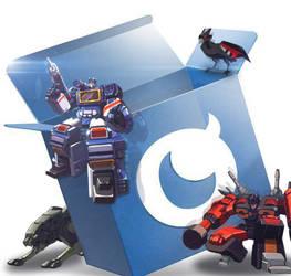 Mobage box Transformers logo