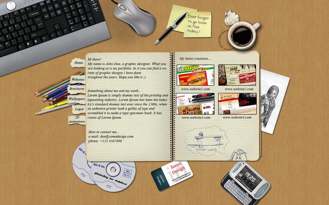 Portfolio design by EzDesigns on DeviantArt