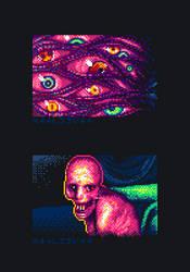 Pixel Quilt - Fear