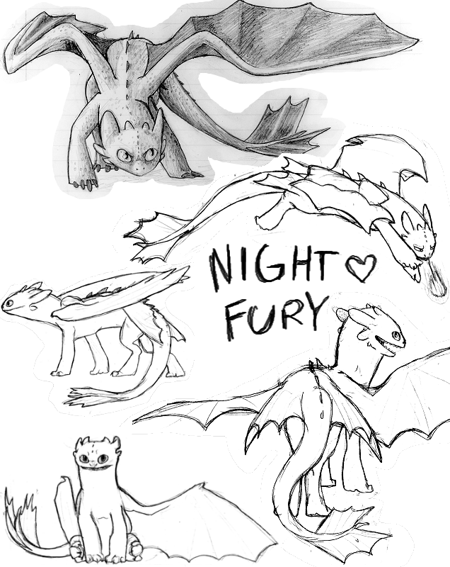 night fury coloring pages images - photo#11