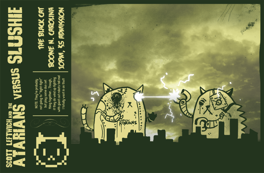 Giant Robot Cat Fight...