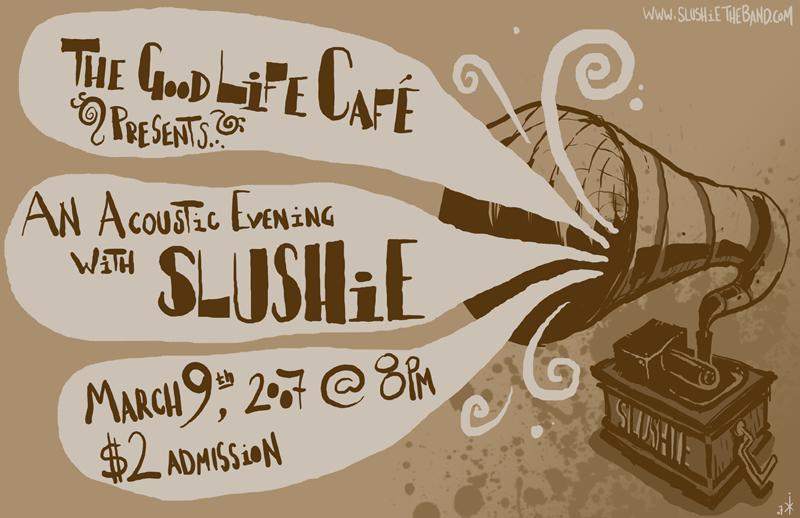 Slushie Acoustic Gig Poster