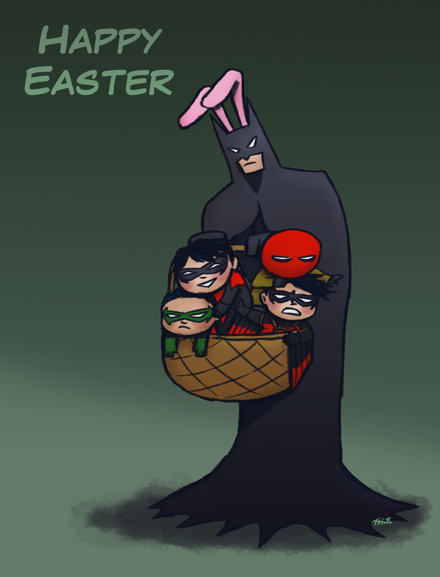 Image result for Batman happy easter