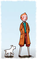 Tintin and Snowy by Super-kip