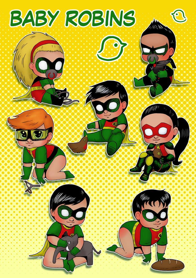 Baby Robins by Super-kip