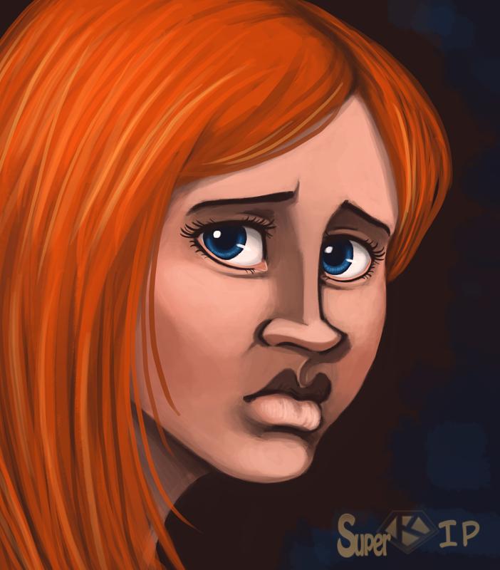 Redhead speedpaint by Super-kip