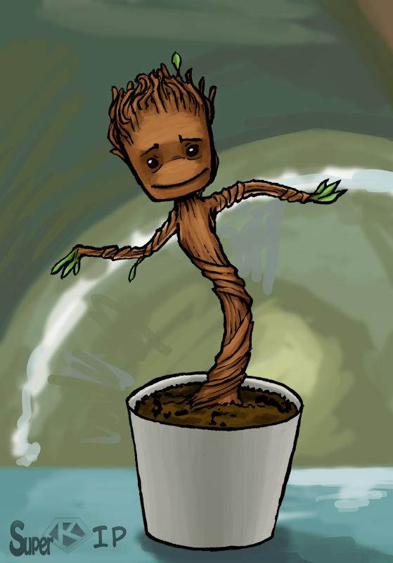Dancing Baby Groot by Super-kip