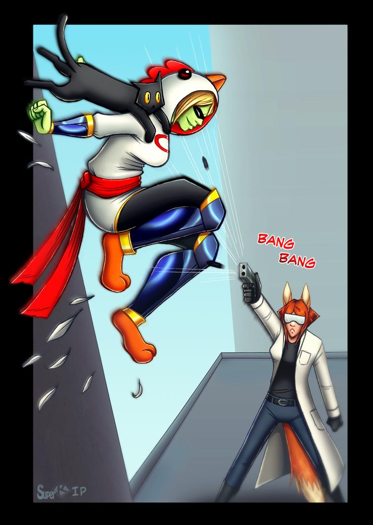 Superchicken Comic Illustration by Super-kip