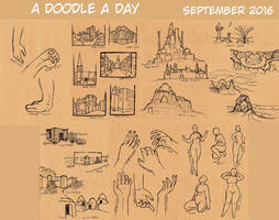 A Doodle A Day September 2016 by Super-kip