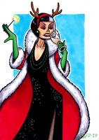 Cruella De Vil celebating Christmas by Super-kip