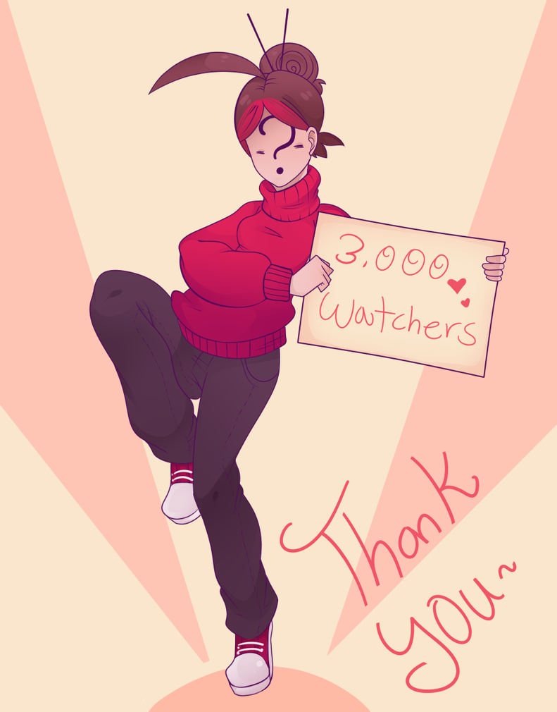 3,000 Watchers! by Miss-NoIdentity
