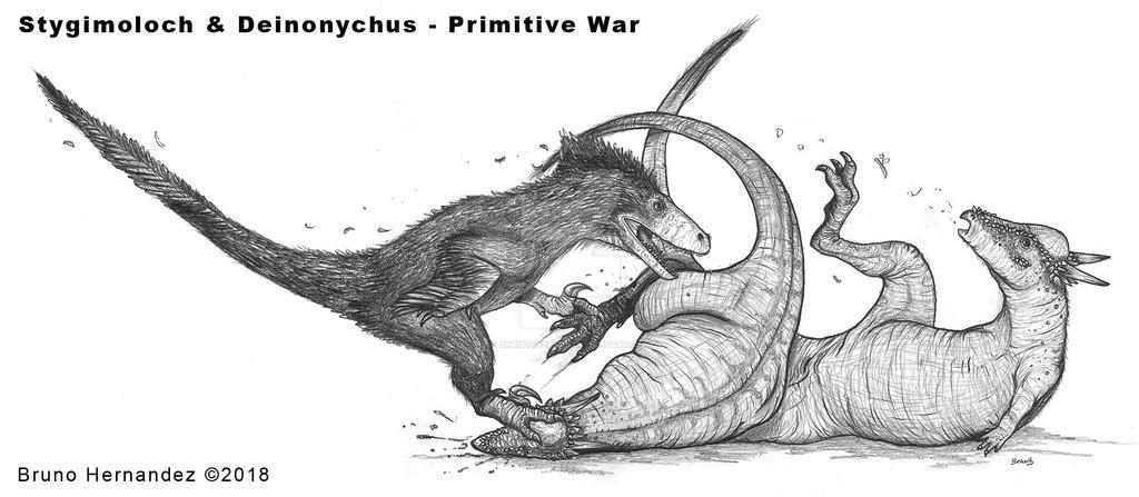 Deinonychus vs. Stygimoloch - Primitive War by Christoferson