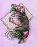 Book reading (art trade)