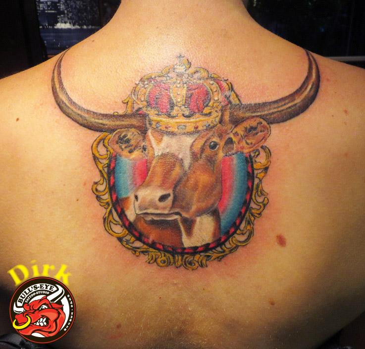 Texas longhorn bull tattoo by bullseyetattoo on deviantart for Texas longhorn tattoo
