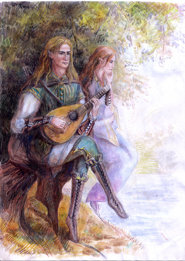 Prince Thranduil and Lady Elerrian by Artafindushka